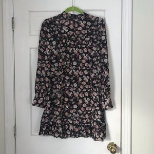 NWOT Floral & Ruffle Dress
